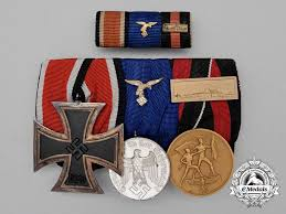 parade ribbon a luftwaffe service parade mounted medal bar ribbon