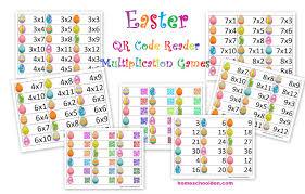 easter qr code multiplication games homeschool den