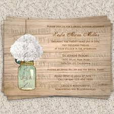 cheap bridal shower invitations jar flowers country wooden rustic printable bridal shower