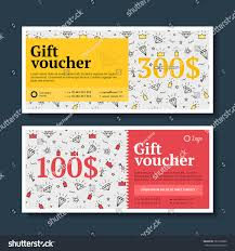 vainer set diamonds gift certificate holiday stock vector