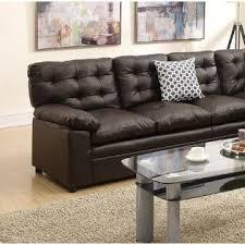 Bonded Leather Sofa Esofastore 2 Pcs Sectional Espresso Bonded Leather Sofa Loveseat