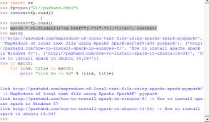 tutorial python regex find url link and content from a html file using python regular