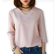 womens blouses for work 2016 summer tops v neck chiffon blouse shirt office