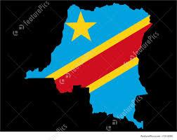 Republic Of Congo Map Map Of Democratic Republic Of Congo Illustration