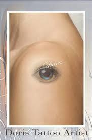 small eye tattoo on shoulder tattooshunt com