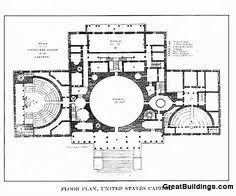 Capitol Building Floor Plan Great Buildings Drawing United States Capitol U20d9