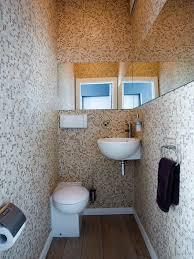 Narrow Powder Room - tiny powder room houzz