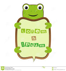 funny smile cute cartoon turtle or frog self business frame with