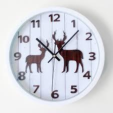 forest small deer european vintage wall clock digital countryside