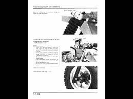 honda atc 200x 83 85 service manual 2of2 youtube