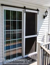 How To Make A Barn Style Door by Planted And Blooming Sliding Screen Door Decorating Ideas
