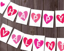 happy valentines day banner etsy your place to buy and sell all things handmade