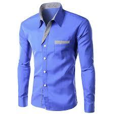 wholesale stripe panel edging pocket shirt xl blue cheap