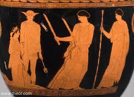 Ancient Greek Vase Painting Return Of Persephone Ancient Greek Vase Painting