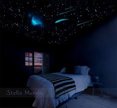 glow in the ceiling glow in the ceiling crescent moon small comet