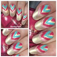 ehmkay nails sinful colors kandee johnson chevron nail art