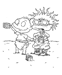 rugrats nickelodeon rugrats coloring pages kids simple rugrats