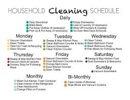 printable house cleaning schedule household schedules etame mibawa co