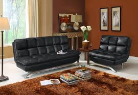 Fake Leather Sofa by Black Leather Couch