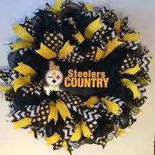 Halloween Mesh Wreaths Ideas Pittsburgh Steelers Wreath Made By Bay Wreath Designs Deco Mesh