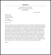systems engineer cover letter 28 images best sle cover letter