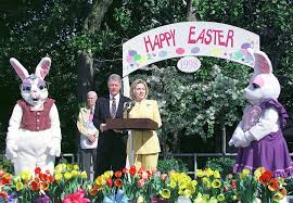 Bill Clinton House White House Easter Egg Rolls Through The Years