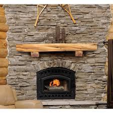 kettle moraine hardwoods morris rustic fireplace mantel shelf