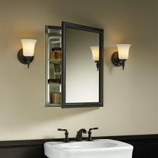 bathroom double door mirrored medicine cabinets with hidden