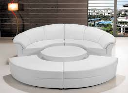 Modern White Leather Sectional Sofa by Modern White Leather Circular Sectional Sofa