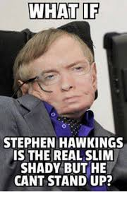 Stephen Meme - what if stephen hawkings is the real slim shady but he cant stand