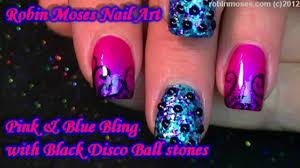 2 nail art tutorials diy pink filigree u0026 blue with black
