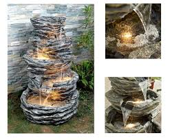Rock Water Features For The Garden 15 Self Contained Water Features Solar Powered Fountains