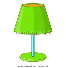 lamp bankers vector desk illustration green stock vector 669996460