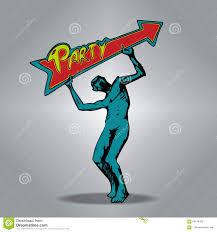 zombie holding an arrow shaped sign concept art cartoon stock