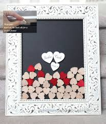 wedding guest book picture frame wedding guest book alternative white drop top guestbook