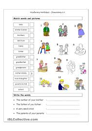 vocab worksheets printable vocabulary matching worksheet elementary 2 2 family