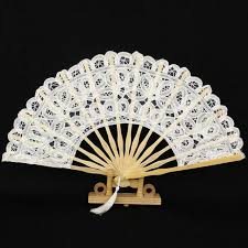 lace fan 1pc 27cm white lace fan wedding fans folding wooden fan