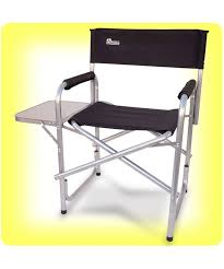 portable makeup chair with side table folding directors chair directors chair from innovative earth products
