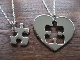 puzzle heart pendant necklace images Best friend puzzle and heart necklace pendants silver puzzle jpg