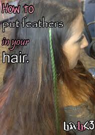 hair feathers diy hair feathers it s so easy to do holleewoodhair