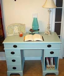 Chalk Paint Desk by Diy Mint Chalk Paint Desk My Blissful Space