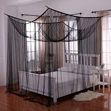 amazon com heavenly 4 post bed canopy black home u0026 kitchen