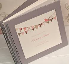 guestbooks for weddings bunting design personalised wedding guest book by beautiful day