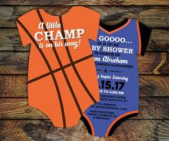 Basketball Themed Baby Shower Decorations 10 Basketball Baby Shower Invitations All By Littlebeesgraphics