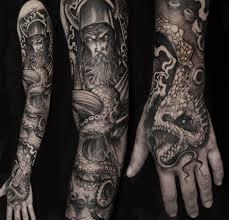 sleeve viking warrior skull tattoos photo 1 tattoes