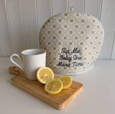 Cosy Personalised Garden Ochre Grey Tea Cosy By Cottage In The Hills