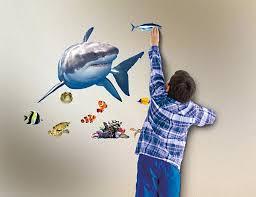 in my room wild walls shark encounter wall decal light sound in my room wild walls shark encounter wall decal light sound show room dcor walmart com