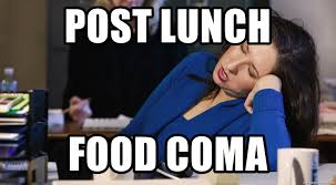 Food Coma Meme - post lunch food coma women sleeping at work meme generator