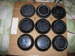 replacement solar panels for garden lights recycled multi voltage solar panel