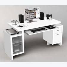 bureau informatique blanc laqué bureau multimedia design petit bureau blanc laqué reservation cing